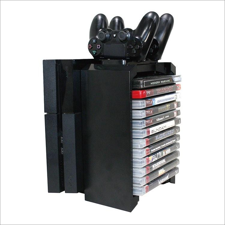 kệ để băng đĩa Ps4 Ps3 Xbox one...có khe để dựng máy