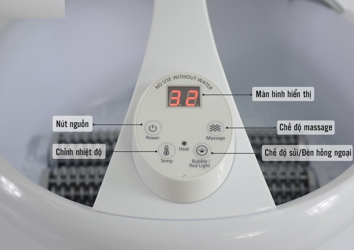 Bồn ngâm chân massagge USA đa năng Serenelife SLFTSP17 nhập khẩu