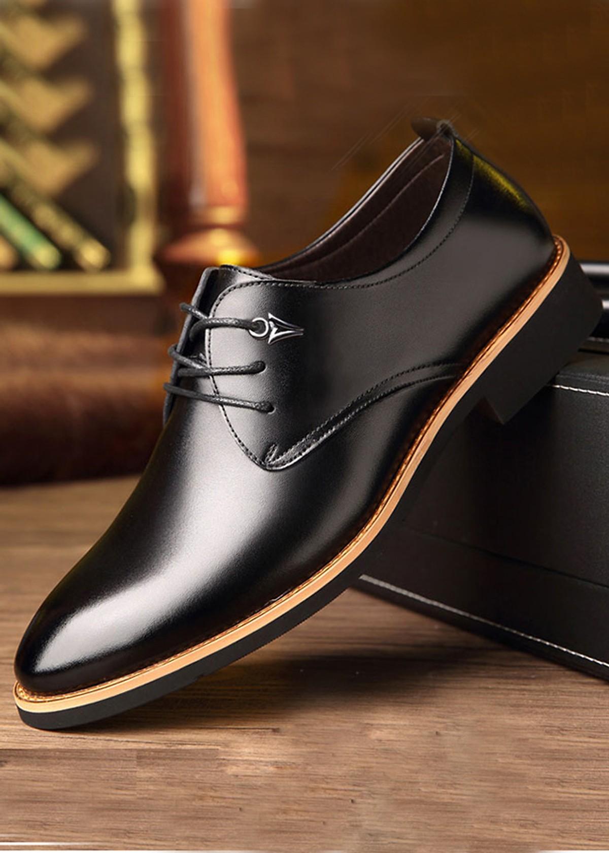 Giày Tây Nam Chất Liệu Da Cao Cấp Lịch lãm Thời Thượng [ BT31 Màu Đen ]