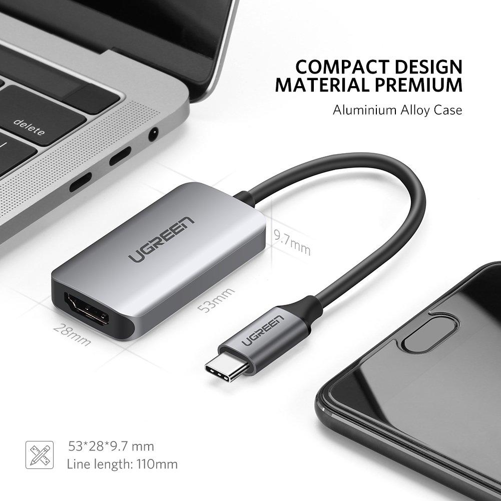 Cáp chuyển đổi USB Type C sang HDMI Ugreen 50314 chính hãng hỗ trợ 4K