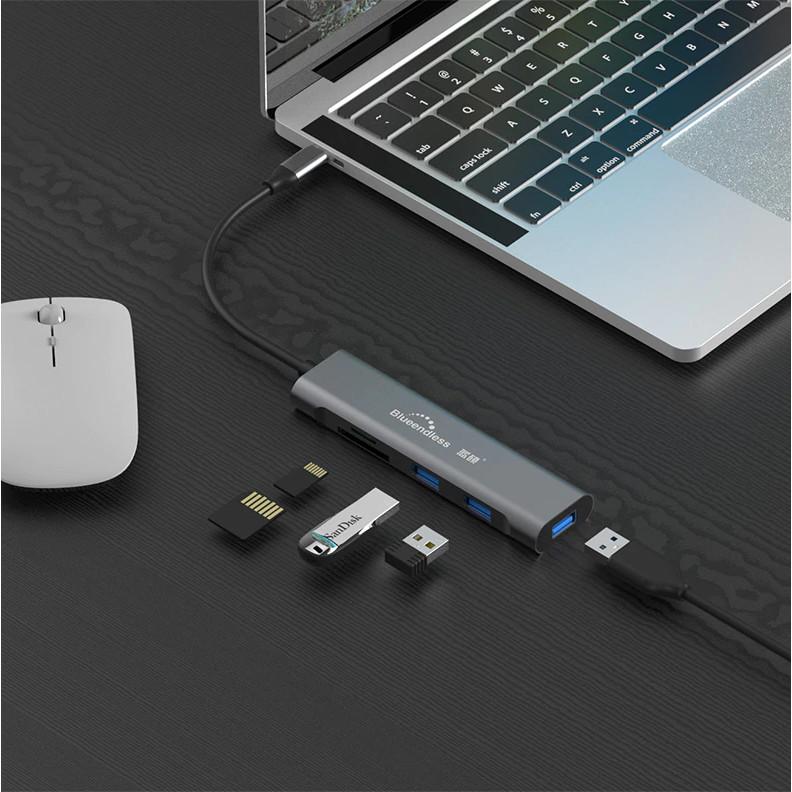 VINETTEAM HUB USB Type C Sang HDMI Blueendless 5 in 1  - Hàng Nhập Khẩu