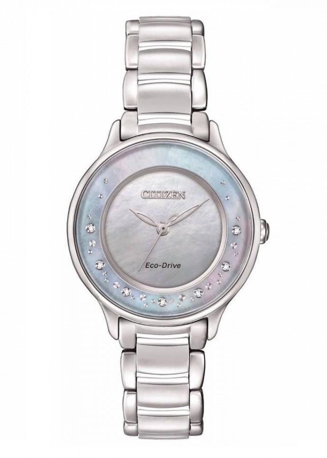 Đồng Hồ Citizen EM0380-65D Nữ Eco-Drive Kính Sapphire 30mm