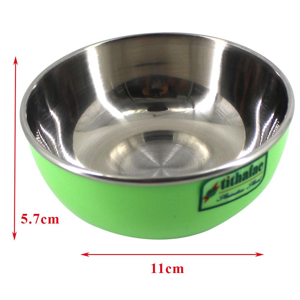 Combo 5 Chén Inox Màu Xanh Cách Nhiệt 2 lớp đường kính 11 cm Tithafac