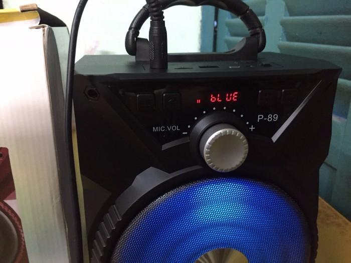 Loa di động xách tay karaoke bluetooth mini P89 TẶNG kèm micro có dây jly - Giao màu ngẫu nhiên