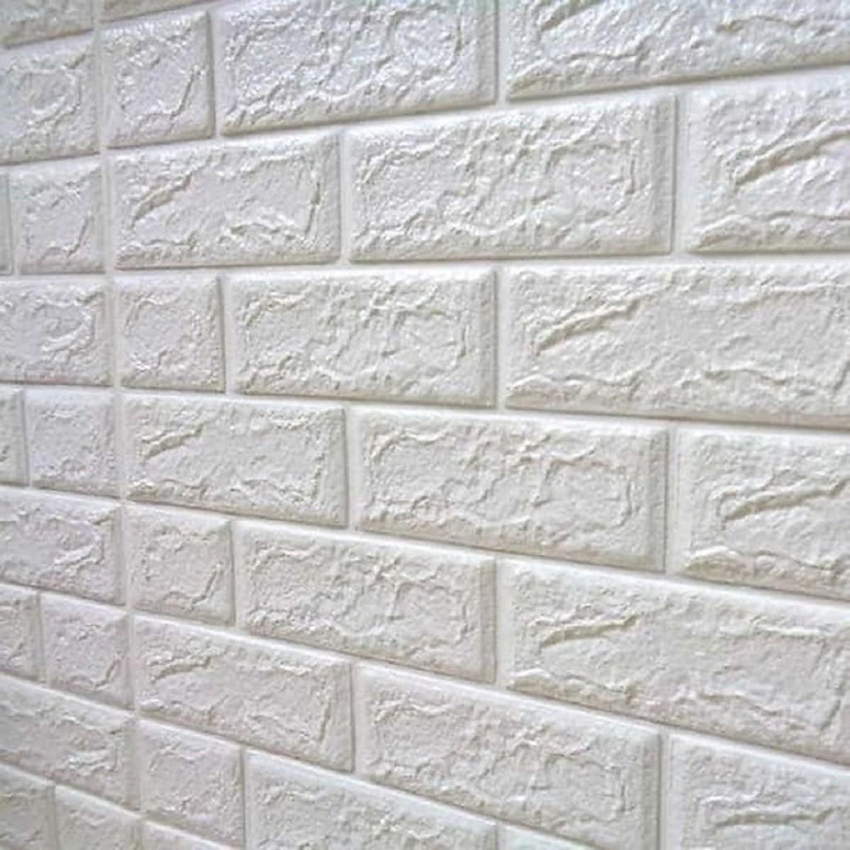 COMBO 50 miếng xốp dán tường cách âm ,cách nhiệt 3D giả gạch hàn quốc-khổ 70x77cm