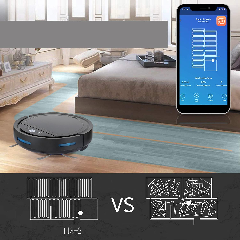 Robot lau nhà quét nhà hút bụi 3 trong 1 điều khiển giọng nói Alexa và tự sạc khi PIN yếu