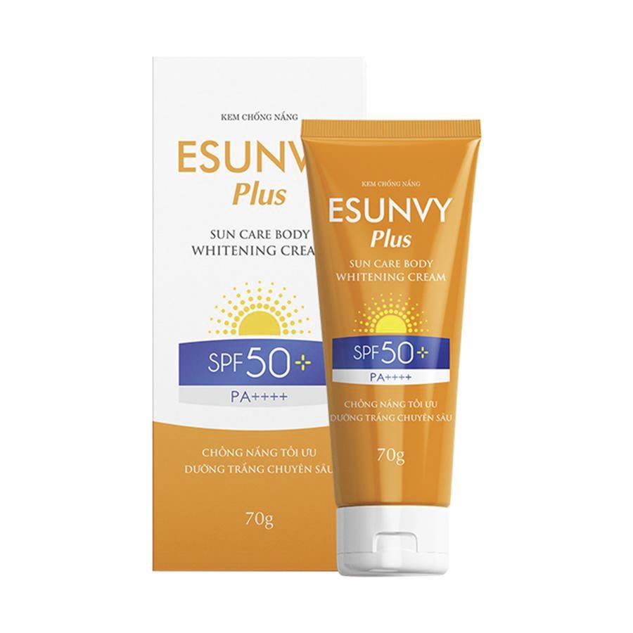 KEM CHỐNG NẮNG ESUNVY PLUS SUN CARE BODY WHITENING CREAM SPF50+/PA++++ - Chống nắng tối ưu, dưỡng trắng chuyên sâu - Tuýp 70g