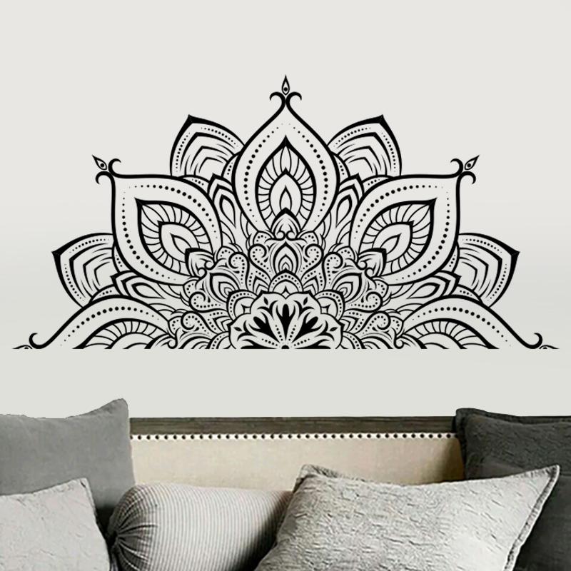 Hình Dán Mandala    Decal Dán Tường Trang Trí Quán Cafe, Quán Nail, Phòng Spa, Dán Phòng Ngủ, Phòng Khách