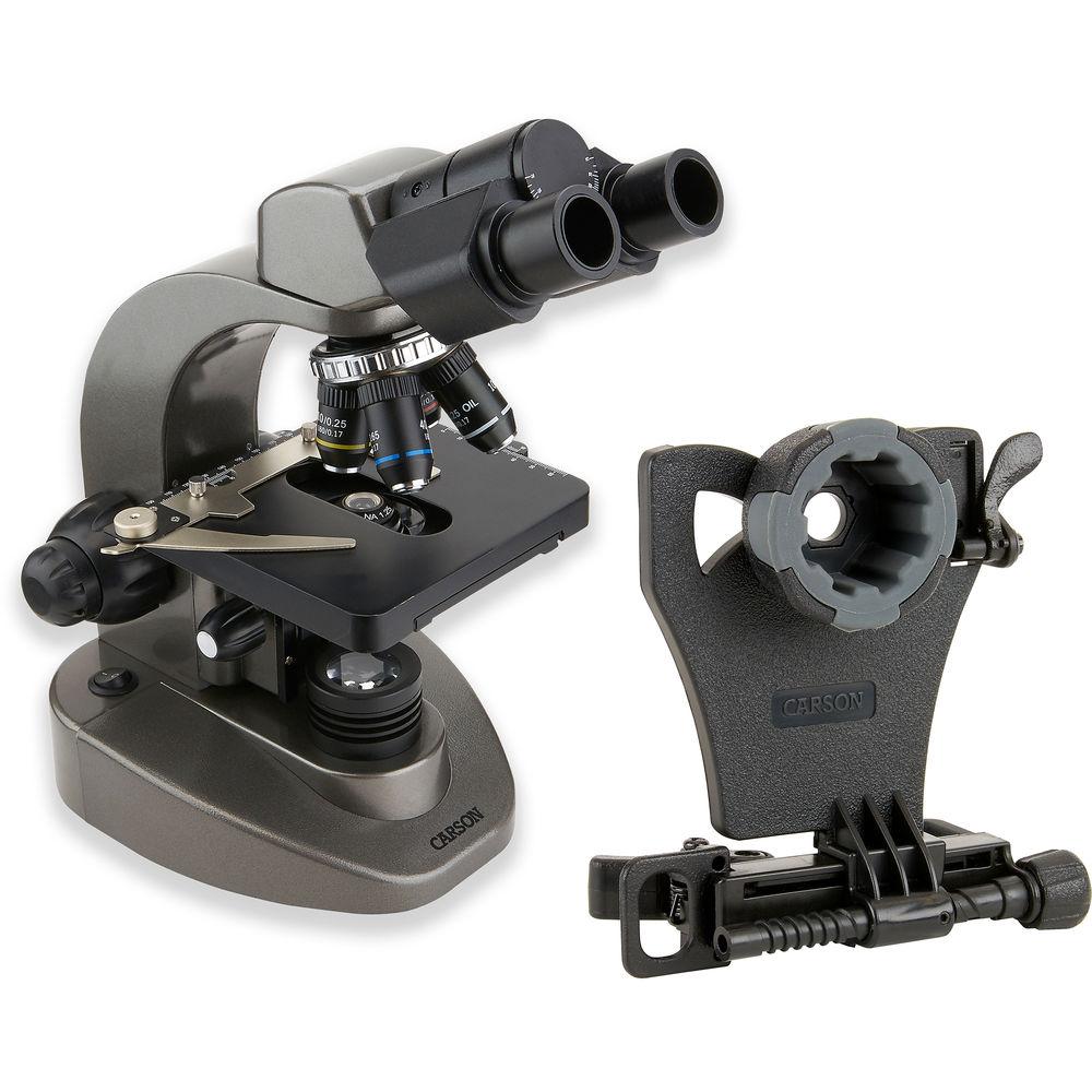 Kính hiển vi hai mắt Carson MS-160SP (40-1600x) tích hợp gắn điện thoại - Hàng chính hãng