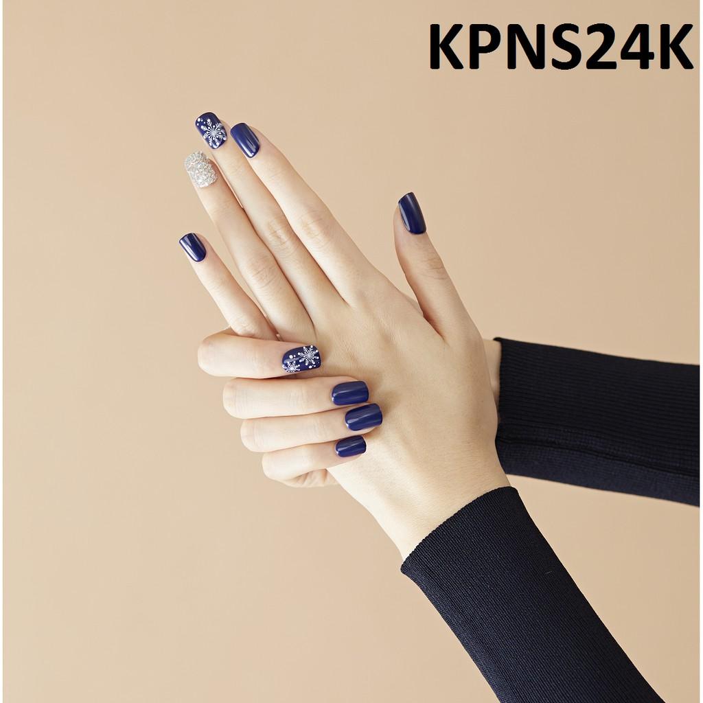 Bộ 30 Móng Tay Gel Dán Press & Go Kiss New York Nail Box - Navy Snowball (KPNS24K)