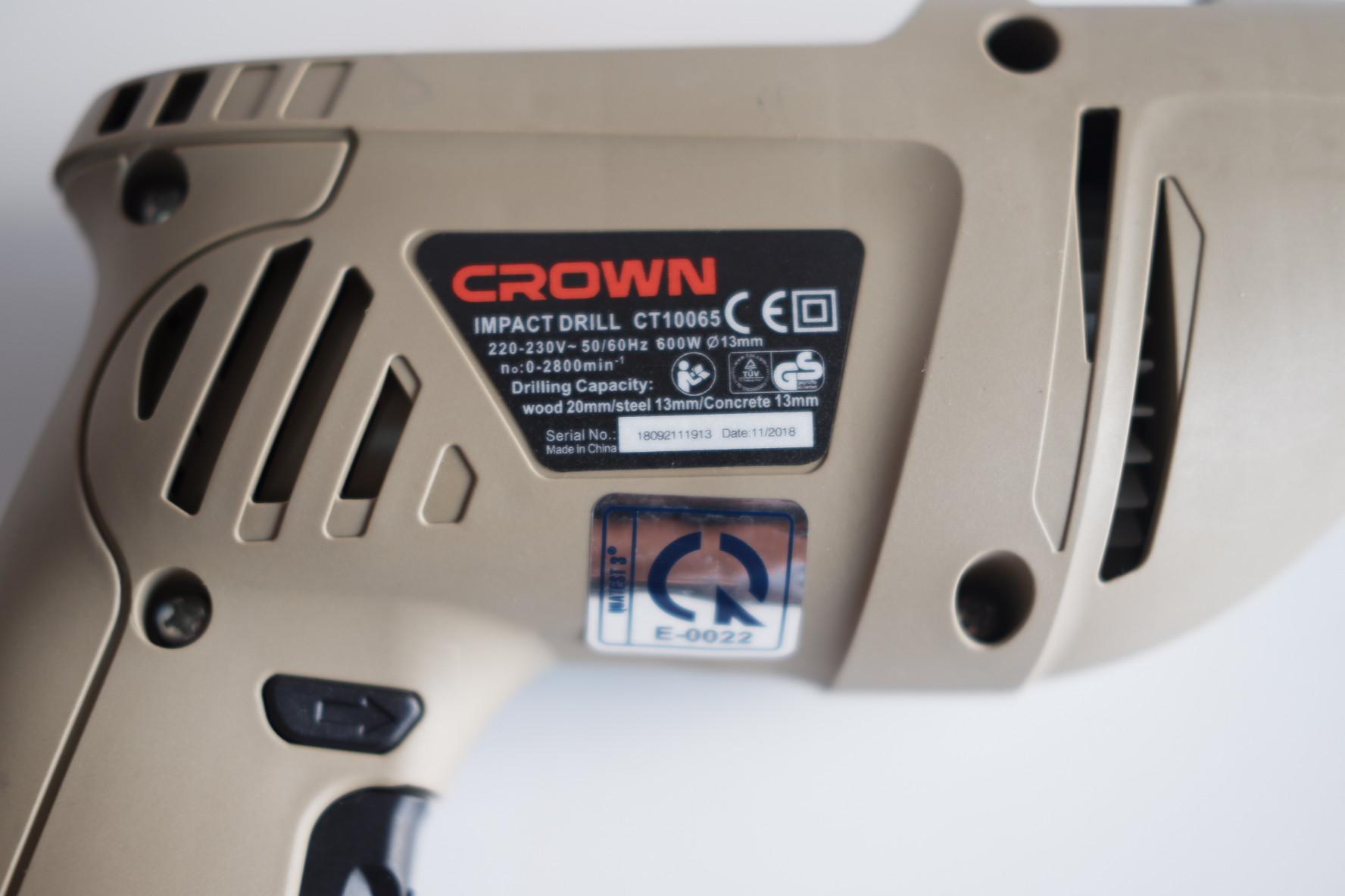 Máy khoan động lực 13mm Crown CT10065