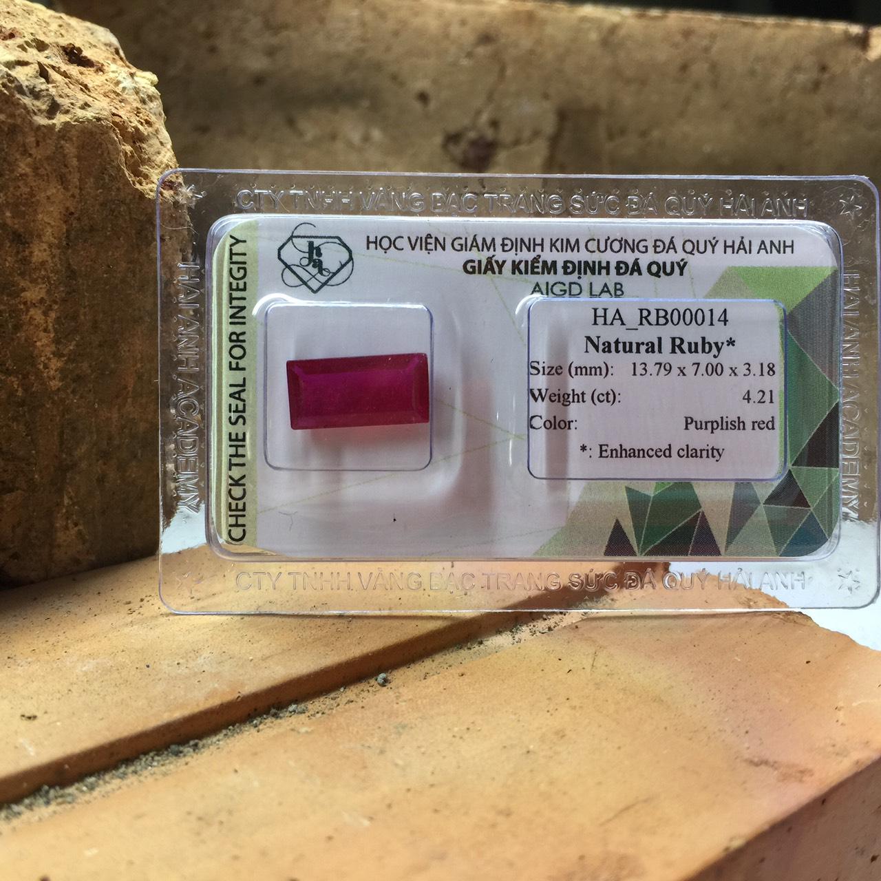 Viên đá Ruby thiên nhiên_HA-RB00014