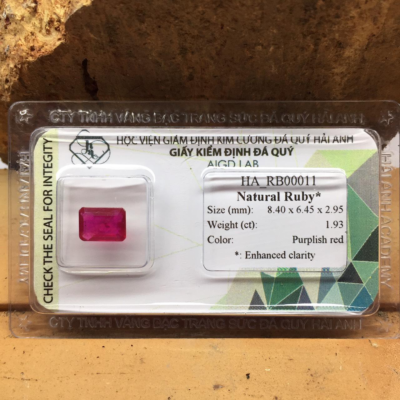 Viên đá Ruby thiên nhiên_HA-RB00011