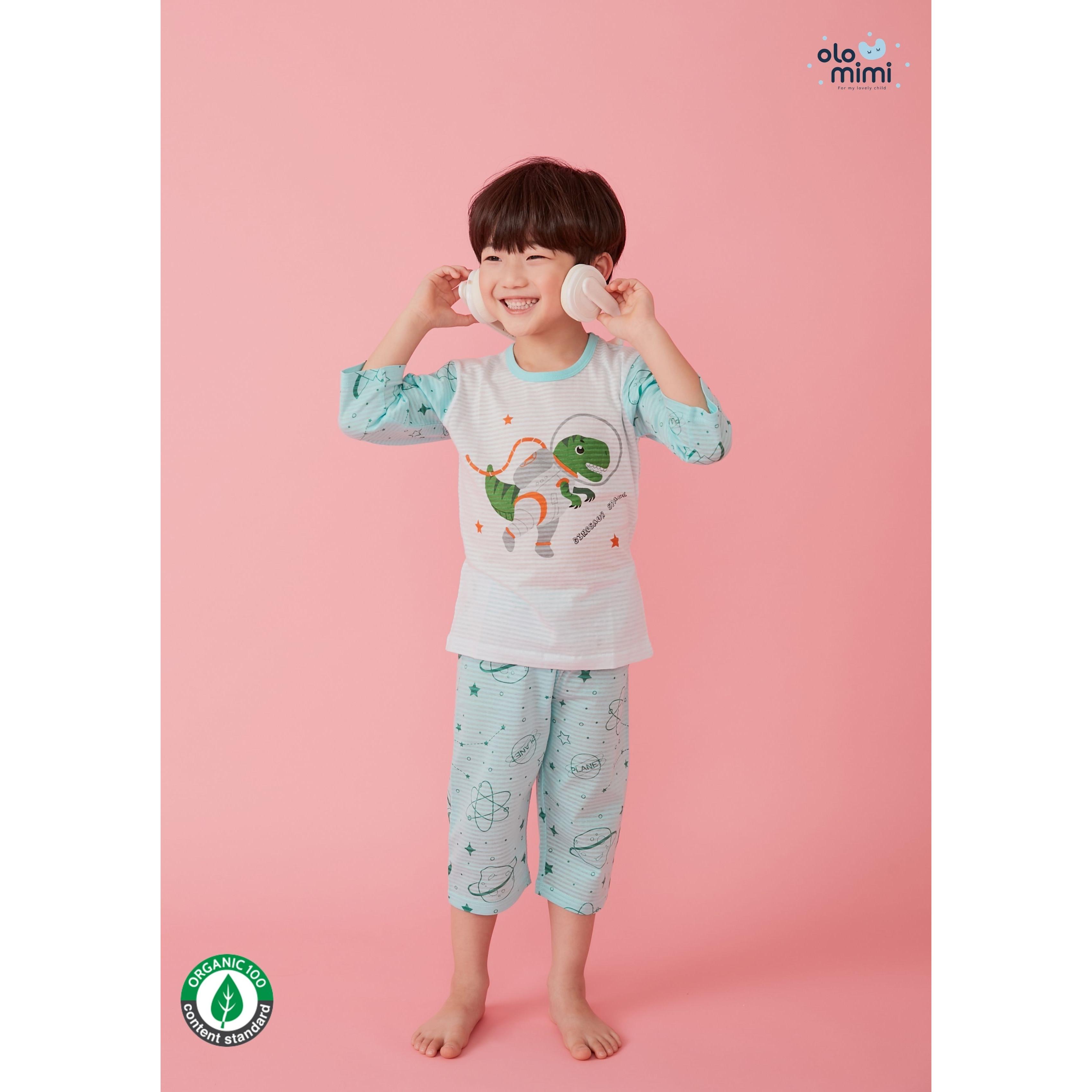 Bộ lửng Olomimi Hàn Quốc SS21 Dino Space - 100% organic cotton