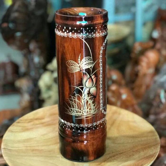 Ống đựng  nhang gỗ (một ống)