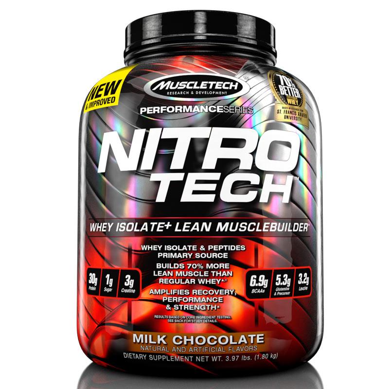Sữa Tăng Cơ Nitro Tech 4lbs 1.81kg  Hỗ trợ tăng cơ, tăng sức mạnh và bổ sung nguồn Protein chất lượng cao hỗ trợ phát triển cơ bắp to  dày - Hàng chính hãng - Thương hiệu Muscletech - HƯƠNG VỊ CHOCOLA