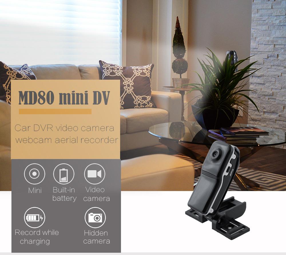Camera Hành Trình Ô Tô Giám Sát Mini DV MD80 AZONE