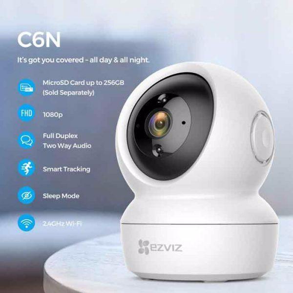Camera IP EZVIZ C6N 1080p Smart IR 2.0 Megapixel, hồng ngoại thông minh, theo dõi chuyển động - Hàng Chính Hãng