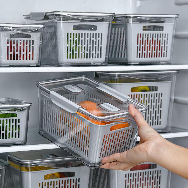 Hộp bảo quản thực phẩm tủ lạnh cỡ lớn có chia ngăn cực tiện dụng - Hàng nhập khẩu