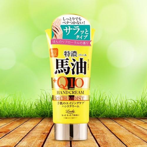 Kem dưỡng da tay mỡ ngựa chống lão hóa Q10  Loshi moist aid horse oil & Q10 rich hand cream 80g