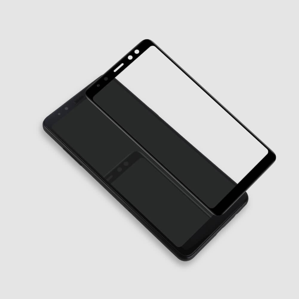 Miếng dán kính cường lực full màn hình 111D cho Samsung Galaxy A8 Plus 2018 hiệu HOTCASE (siêu mỏng chỉ 0.3mm, độ trong tuyệt đối, bo cong bảo vệ viền, độ cứng 9H) - Hàng nhập khẩu