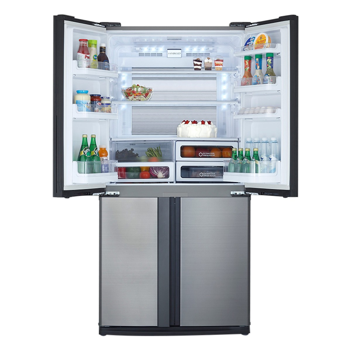 Tủ Lạnh Inverter Sharp SJ-FX631V-SL (556L) - Hàng Chính Hãng + Tặng Bình Đun Siêu Tốc