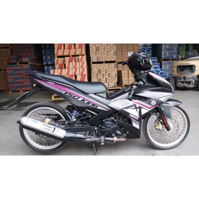 Tem dán dành cho xe máy Exciter 150 mẫu MX King tím bạc đen