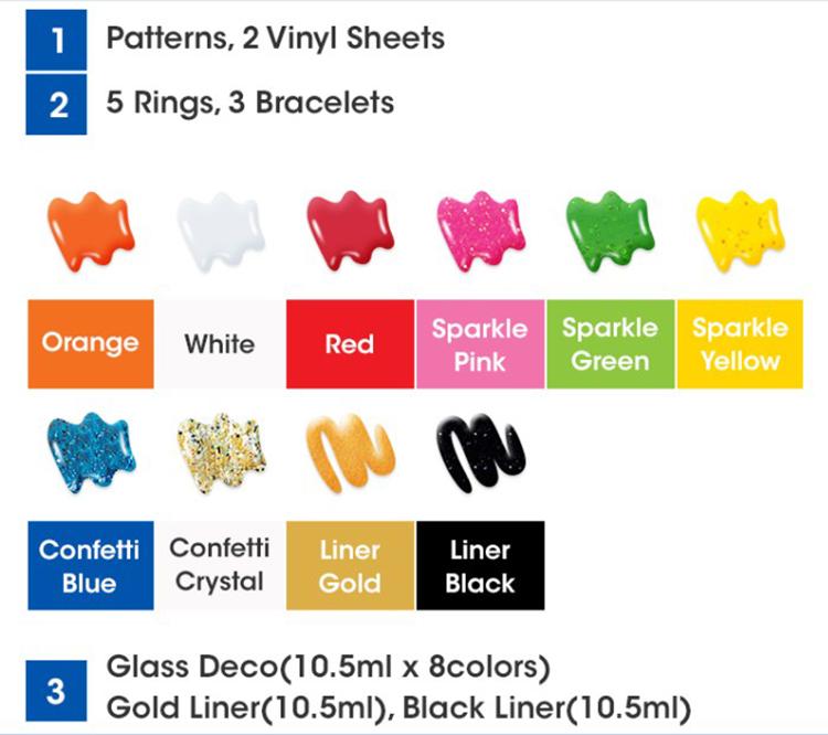 Màu Vẽ Trang Trí Đồ Trang Sức Jewery Deco AMOS AGD4 (10 Màu)