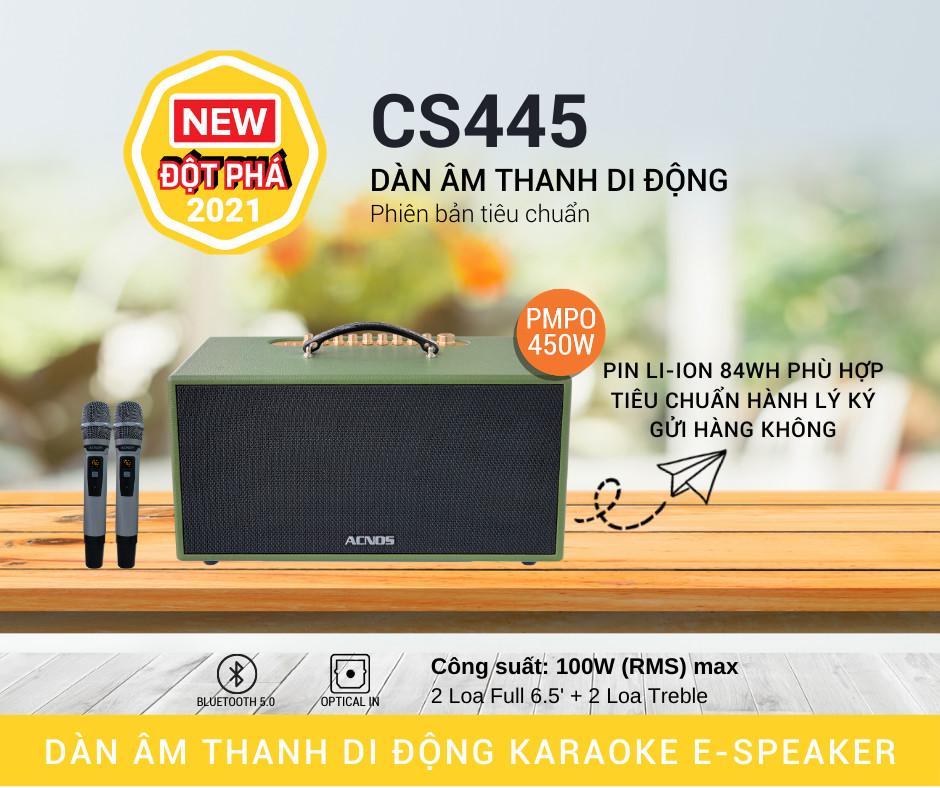 Dàn Âm Thanh Di Động ACNOS CS445 -Hàng chính hãng
