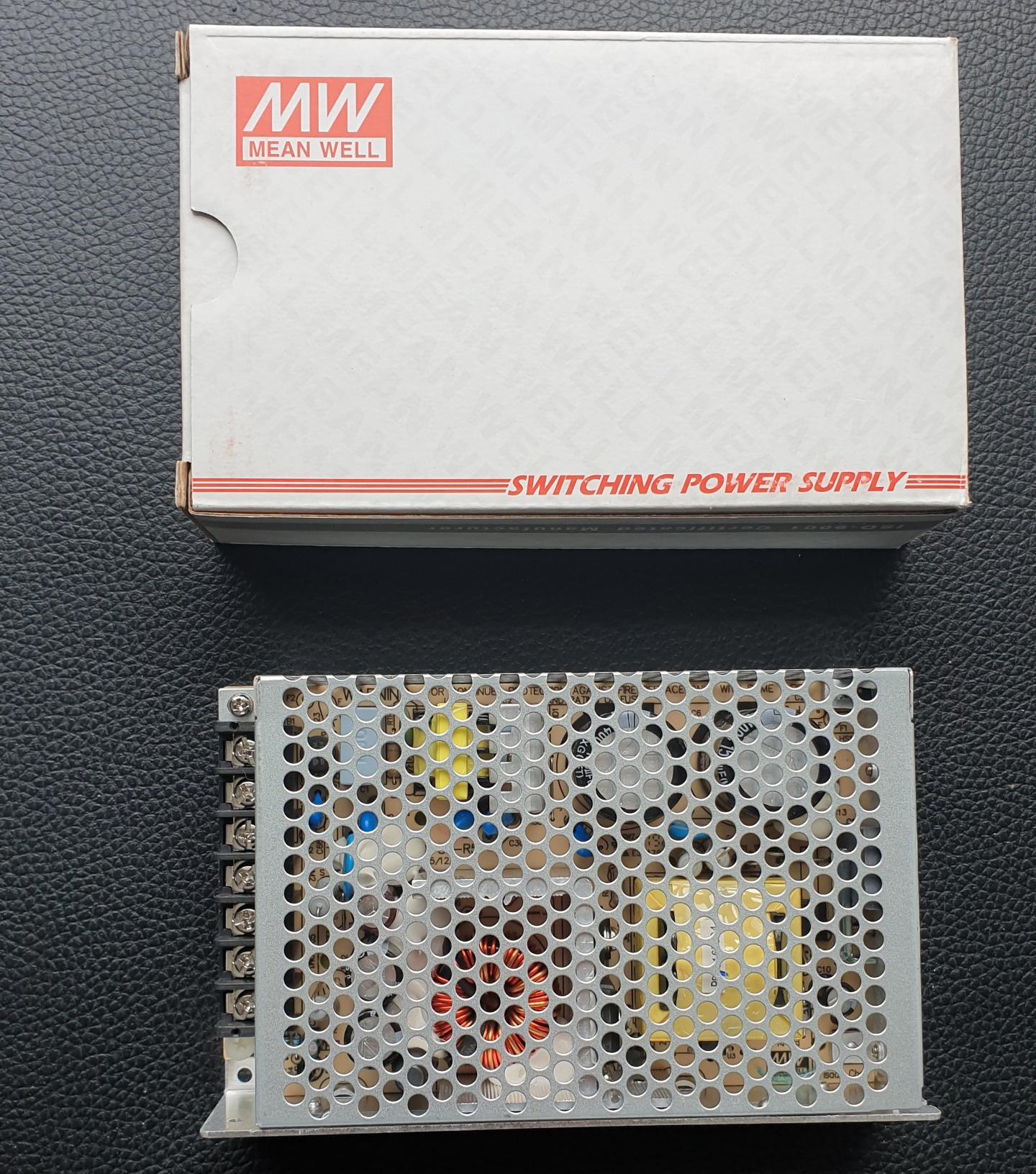 Nguồn Công nghiệp Mean Well Công suất 85 W, Điện áp ra 5V-8A, 24V-2A, Model: RD-85B. Hàng chính hãng