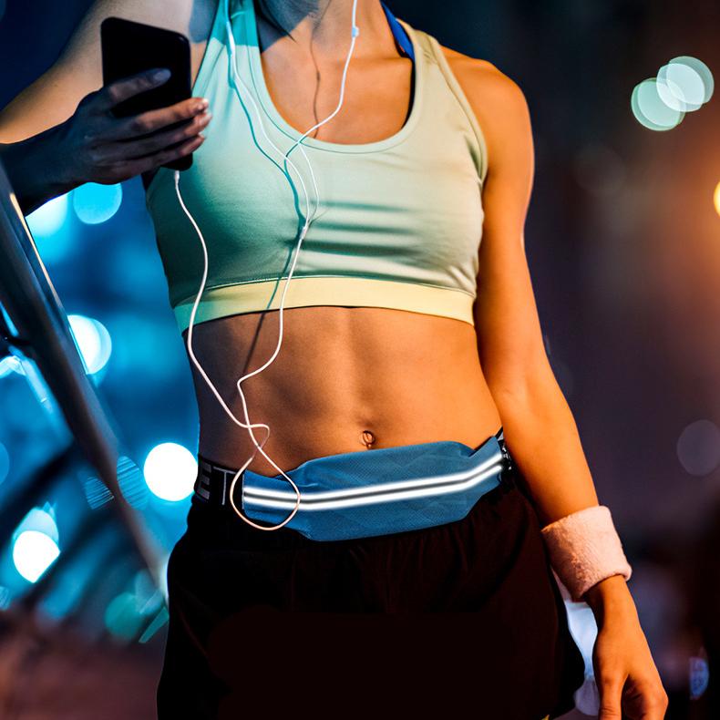 Đai chạy bộ đựng điện thoại Rhino B203 vô hình chống trộm, đeo thắt lưng nam nữ, màu đen xanh hồng, tiện dụng khi đi chơi, dã ngoại, hoạt động ngoài trời, yoga, leo núi, chạy, đi bộ, đạp xe, tập gym, cầu lông- Chính hãng Rhino Store