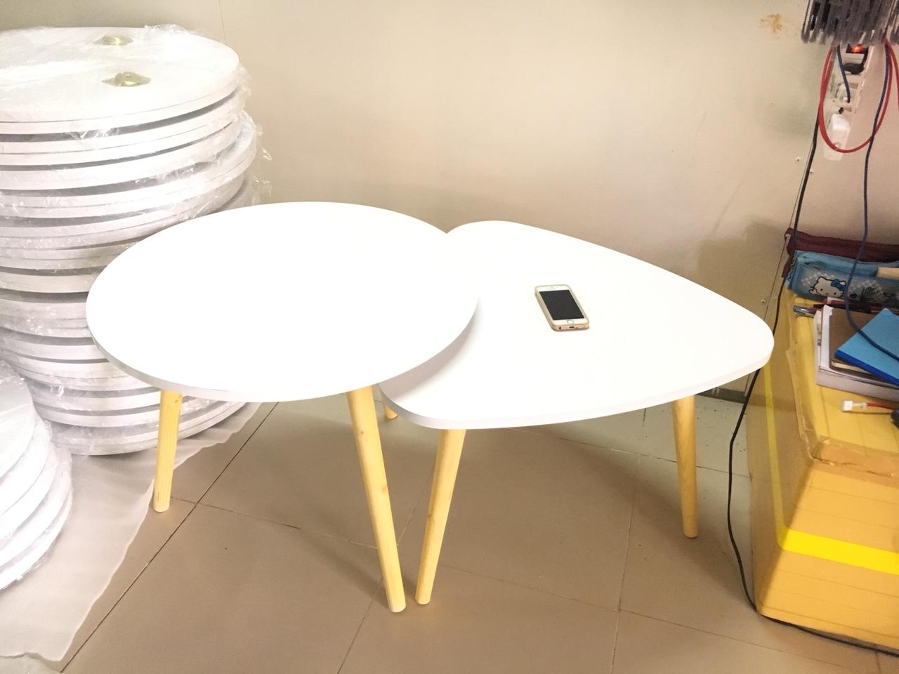 Pk - Cặp bàn tròn, tam giác sofa 60-60, bàn trà, bàn cafe, coffee, cà phê, bàn salon, sopha
