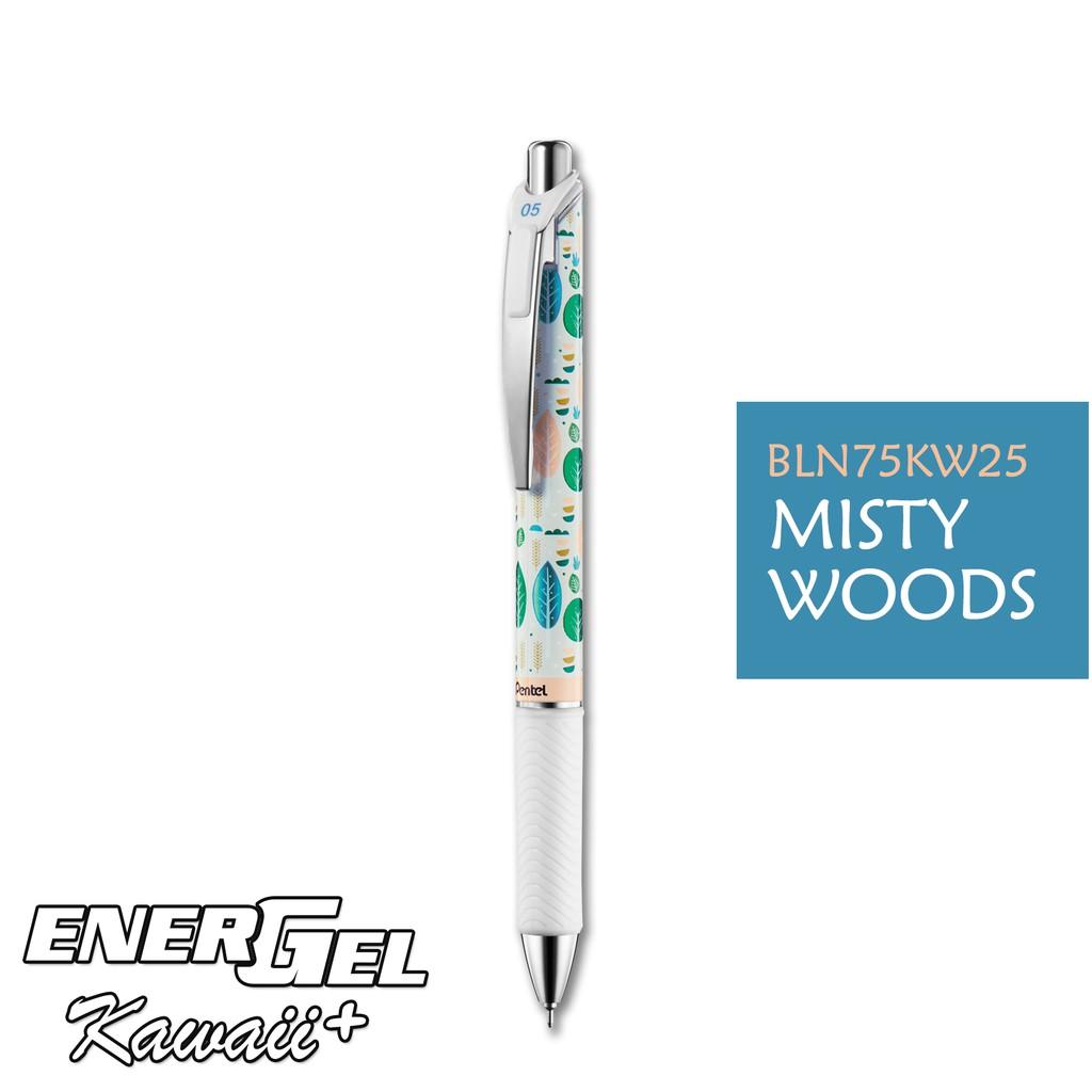 Bút gel Pentel EnerGel Kawaii - MISTY WOODS - Mực xanh dương (Blue)