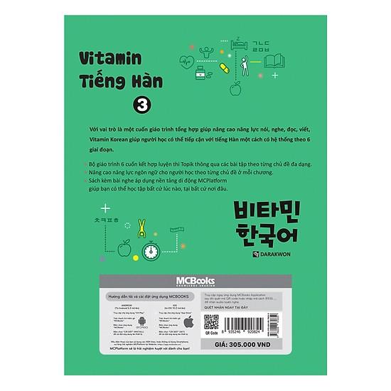 Vitamin Tiếng Hàn Tập 3(Tặng kèm Kho Audio Books)