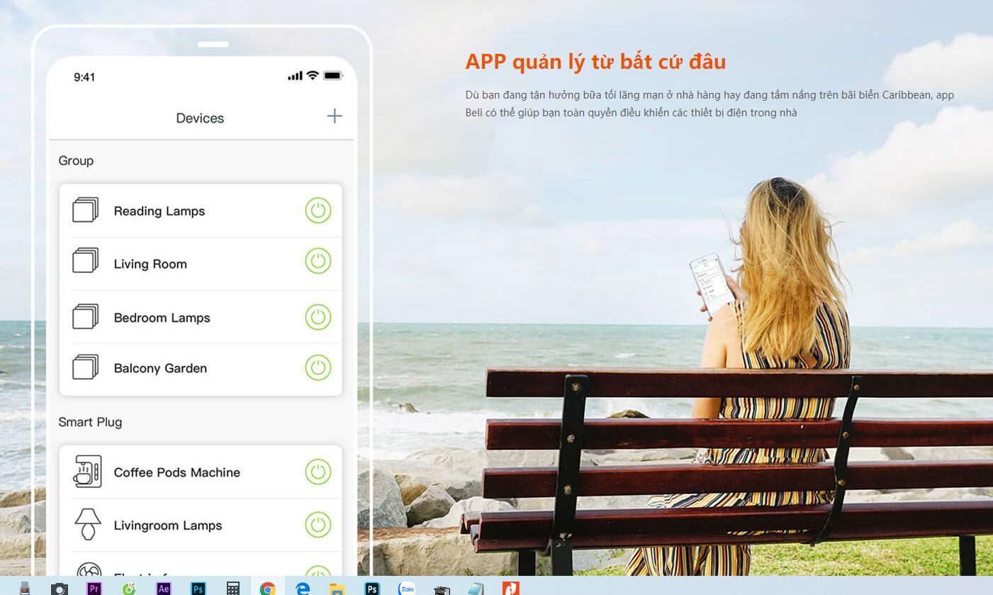 Ổ cắm wifi thông minh Tenda SP3 Điều khiển từ xa - Hàng Chính Hãng