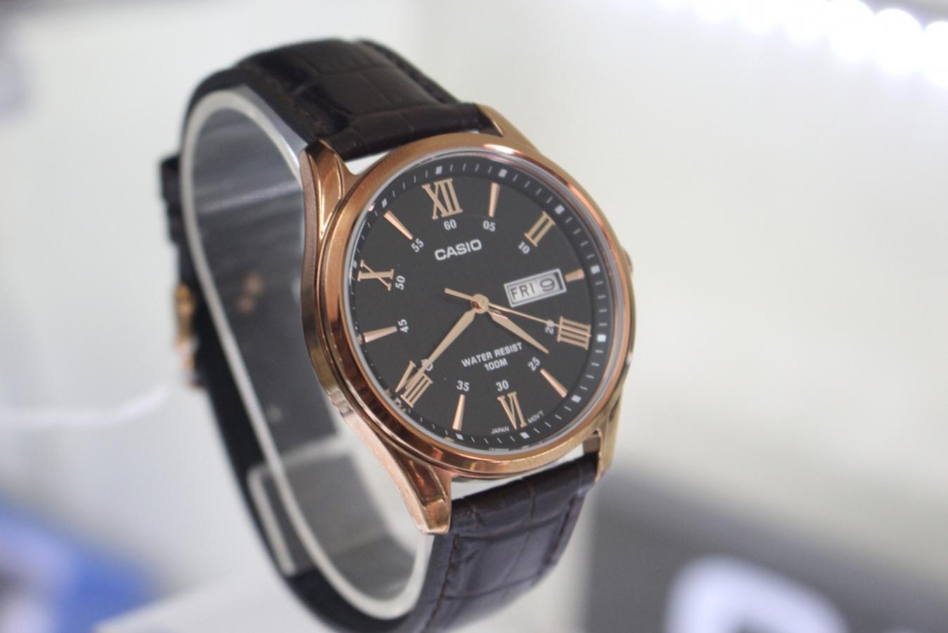 Đồng hồ nam dây da Casio MTP-1384L-1AVDF