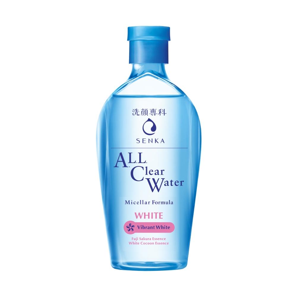 Nước Tẩy Trang Dưỡng Trắng SENKA A.L.L. CLEAR WATER Micellar Formula White 230ml 15021 tặng Mặt nạ dưỡng da The Faceshop Real Nature (1 miếng)