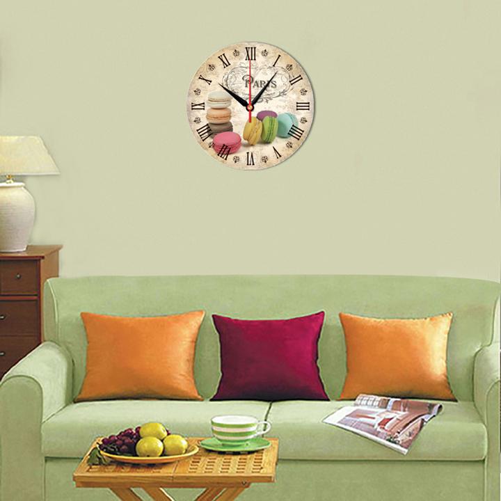 Tranh đồng hồ trang trí tiệm bánh DHT-144