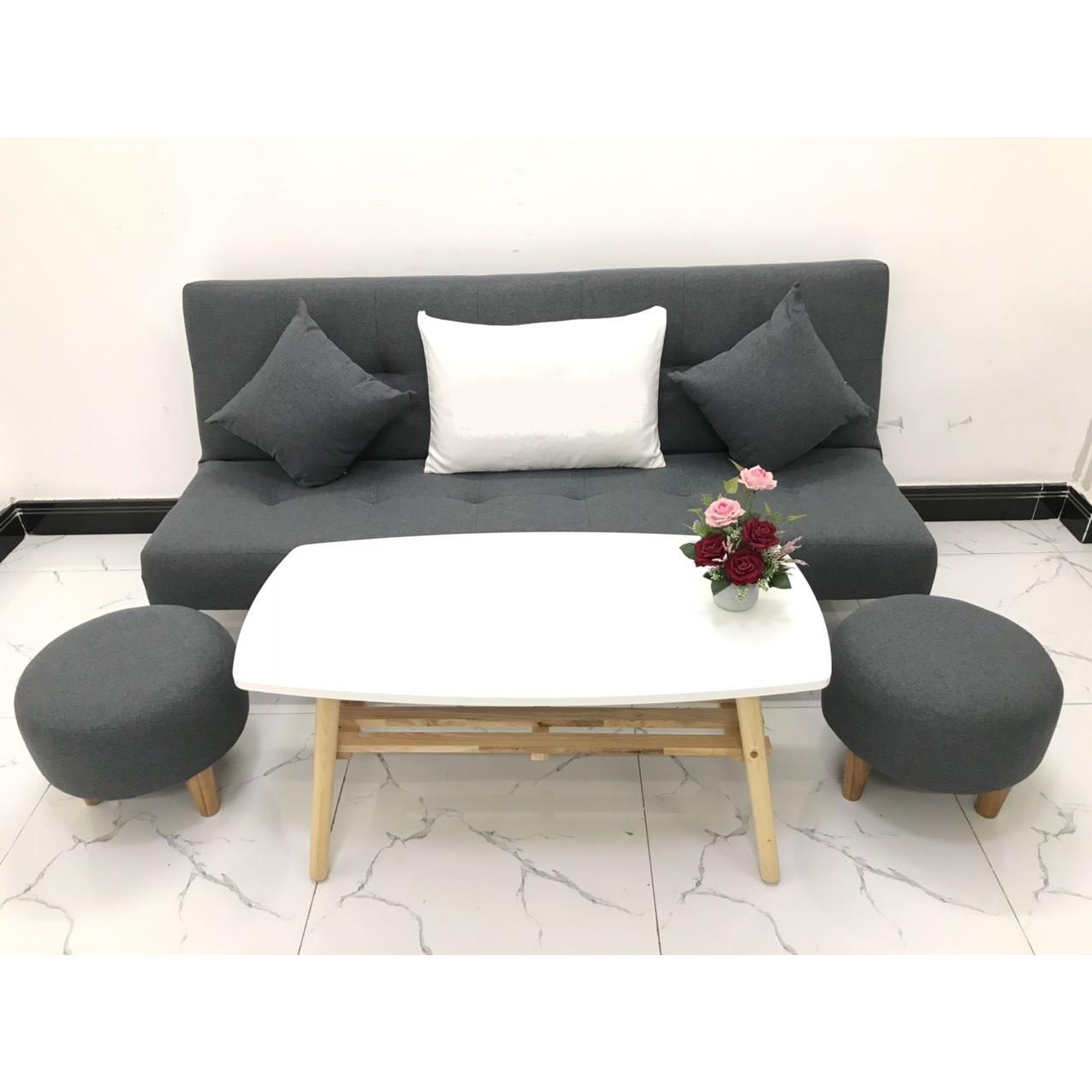 Bộ ghế sofa giường sofa bed phòng khách linco24 sofa vải, sofa nệm, sofa