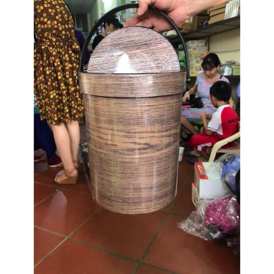 Thùng Rác Nắp Lật 8036 Nhựa Việt Nhật ,Thùng Đựng Rác , Đồ Gia Dụng Tiện Ích