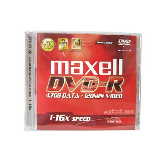 Đĩa DVD Trắng Maxell 4.7GB (Đĩa Kèm Hộp Mika)- Hàng Nhập Khẩu