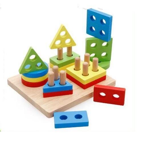 Đồ chơi thả hình 4 trụ cho bé