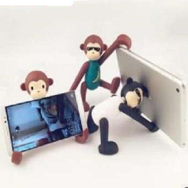 Giá đỡ điện thoại hình con khỉ (màu ngẫu nhiên)