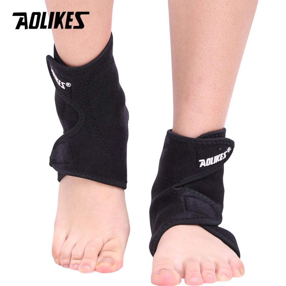 Đai nẹp hỗ trợ sưởi ấm mắt cá chân AOLIKES YE-1050 nam châm tự làm nóng trị liệu phục hồi sau chấn thương Magnet ankle protection - Hàng Chính Hãng