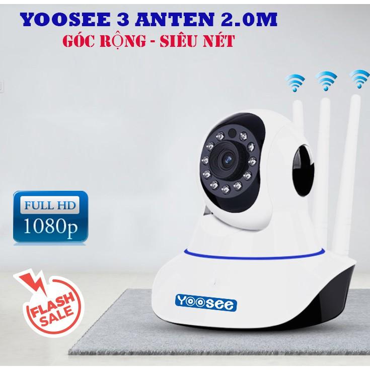 Camera Yoosee 2.0mpx FHD hỗ trợ thẻ nhớ dung lượng cao giúp thời gian xem lại được lâu hơn - HÀNG NHẬP KHẨU (TẶNG KÈM ĐẦU ĐỌC THẺ NHỚ CAO CẤP)