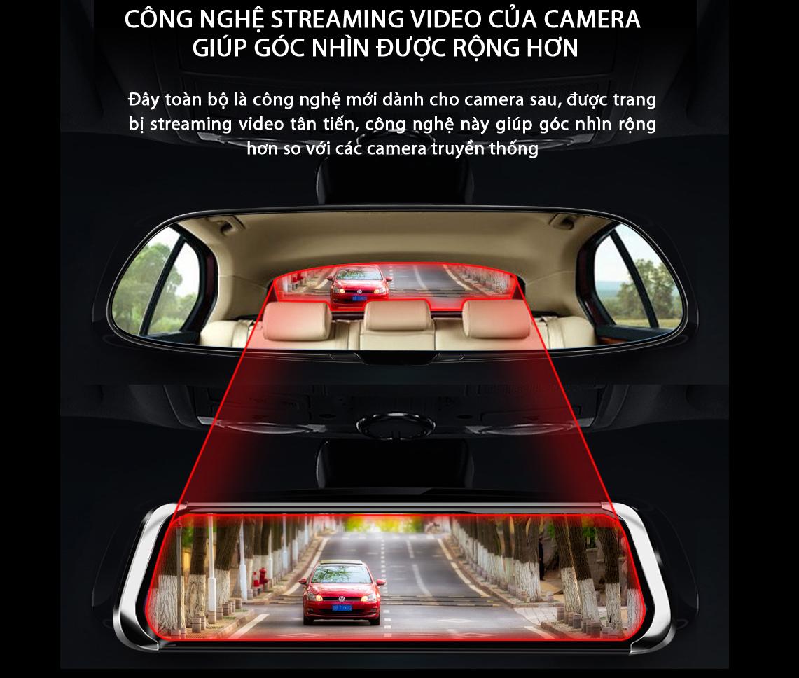 Camera Hành Trình Gương A26 Quay 2K UHD Màn Hình Cảm Ứng 10 Inch