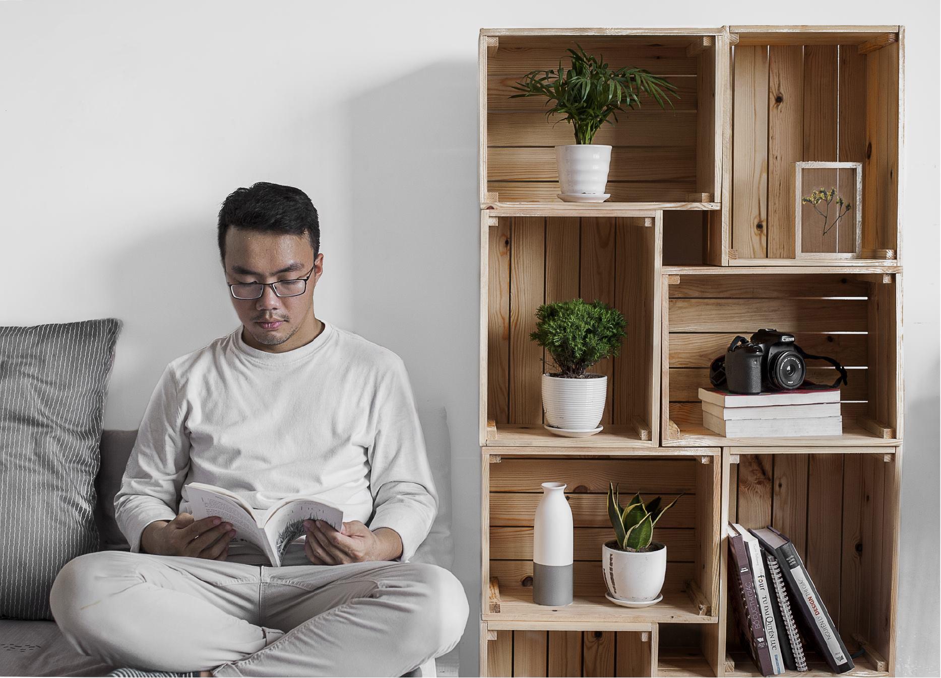 Giá Sách Tự Bố Trí, Kệ Sách 8 Hộp Gỗ Nan, Tủ Sách Decor Thành Tủ Đứng Hoặc Tủ Ngang Đa Năng