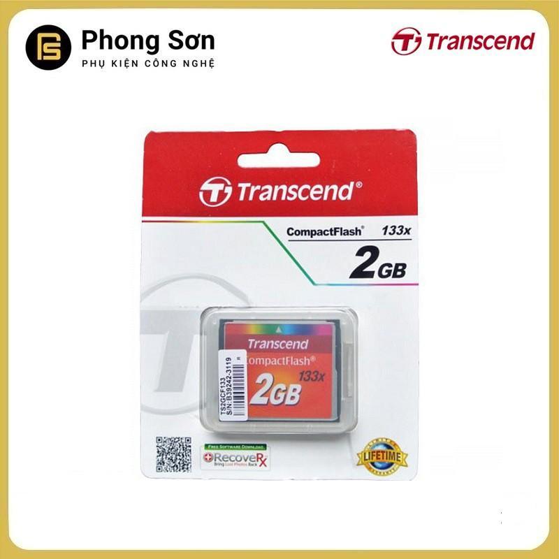 Thẻ nhớ Transcend CF 2GB (133x Speed) Hàng nhập khẩu