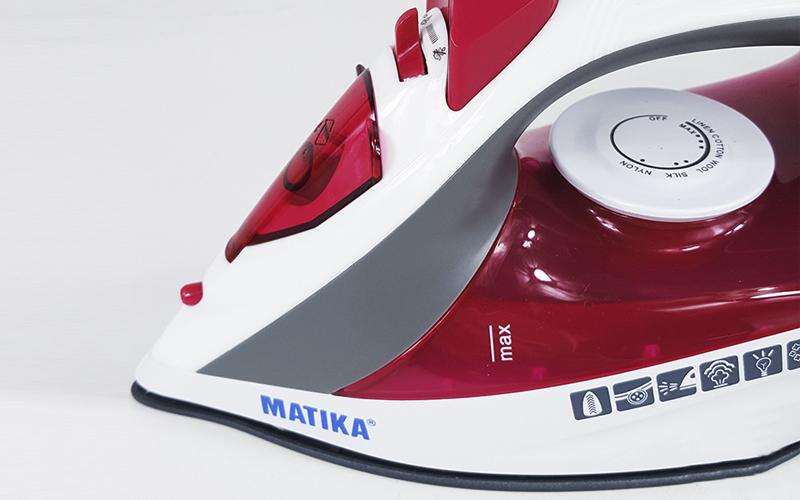Bàn là, bản ủi hơi nước Matika 2916 , công suất 1600W, màu ngẫu nhiên-hàng chính hãng