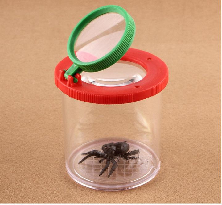 Hộp kính lúp quan sát côn trùng chuyên dụng dành cho bé ( Chất liệu nhựa ABS trong suốt, chắc chắn) - Tặng Ví thép đa năng 11in1